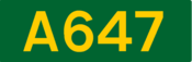 A647 road shield