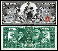 2003A printing $2 Note ATLANTA Two Dollar Bill USED Paper currency with F