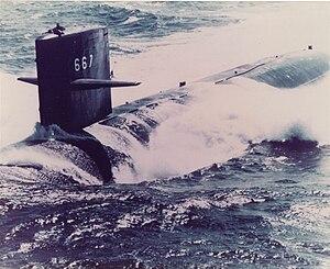 USS Bergall (SSN-667) - Image: USS Bergall (SSN 667)