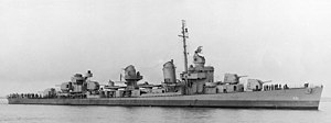 USS Chevalier (DD-451) off Boston in October 1942
