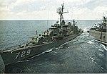 USS Lyman K. Swenson (DD-729) refuels from USS Bennington (CVS-20) in 1962.jpg
