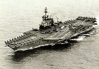 South Vietnam Air Force - Image: USS Midway transporting ex VNAF aircraft from Thailand to Guam