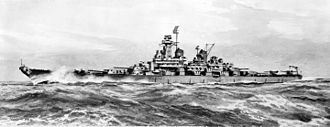 Montana-class battleship - An artist impression of what a Montana-class battleship would look like.