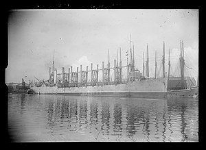 USS Neptune (AC-8) - USS Neptune in Saint-Nazaire in June 1917.