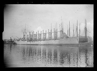 USS Neptune (AC-8) - USS Neptune in Saint-Nazaire in June 1917.