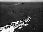 USS Robert A. Owens (DDE-827) and USS Randolph (CVS-15) underway in July 1959.jpg