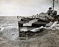USS Waldron (DD-669) in heavy seas during the Okinawa campaign, 1945.jpg