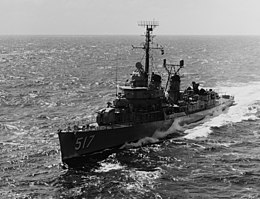 USS Walker (DD-517) underway at sea on 7 February 1965 (USN 1110825).jpg