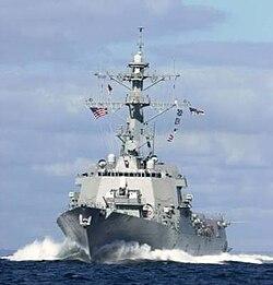 USS Winston S. Churchill (DDG-81) high speed run