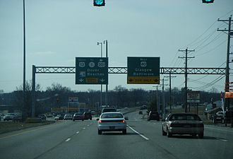 U.S. Route 13 in Delaware - Split between southbound US 13 and westbound US 40 in State Road