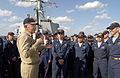 US Navy 030117-N-2383B-837 Adm. Vern Clark, Chief of Naval Operations (CNO), speaks to the crew of USS Milius (DDG 69).jpg