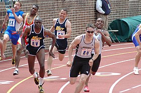 US Navy 050429-N-7975R-002 The Army-Navy rivalry takes to the track in the 4X100 relay.jpg