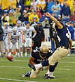 US Navy 051008-N-9693M-018 U.S. Naval Academy Midshipmen kicker Joey Bullen kicks a field goal with 4-10ths of a second left in the game against Air Force for three points.jpg