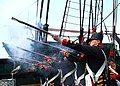 US Navy 060623-N-5367L-005 USS Constitution's 1812 Marine Guard fire vintage Springfield flintlock muskets during the ship's underway.jpg