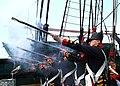 US Navy 060623-N-5367L-005 USS Constitution's 1812 Marine Guard fire vintage Springfield flintlock muskets during the ship's underway.jpg