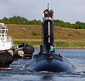 US Navy 060825-N-7441H-005 The Virginia-class attack submarine USS Texas (SSN 775) is guided into port by local tugboats near Port Canaveral.jpg
