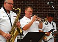 US Navy 090801-N-6914S-052 Members of the U.S. Navy Band rock ensemble,.jpg