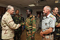 US Navy 100326-N-8273J-229 Chief of Naval Operations (CNO) Adm. Gary Roughead meets with coalition forces during a dinner with senior military leaders at Camp Lemonnier, Djibouti.jpg