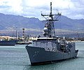 US Navy 100402-N-7498L-168 The guided-missile frigate USS Crommelin (FFG 37) makes its way to a new pier location at Joint Base Pearl Harbor-Hickam. Crommelin is scheduled to participate in the Merrie Monarch Festival at Hilo.jpg