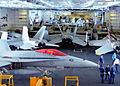 US Navy 100520-N-8913A-048 Aircraft from Carrier Air Wing (CVW) 8 are stored in the hangar bay aboard USS George H.W. Bush (CVN 77).jpg