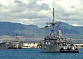 US Navy 100629-N-0641S-073 The Avenger-class mine countermeasures ship USS Pioneer (MCM 9) pulls into Joint Base Pearl Harbor-Hickam to participate in Rim of the Pacific (RIMPAC) 2010 exercises.jpg