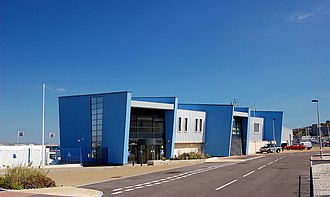 Weymouth and Portland National Sailing Academy - The clubhouse in Osprey Quay