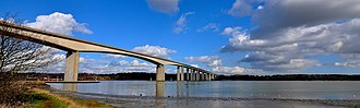European route E30 - Orwell Bridge west of Felixstowe