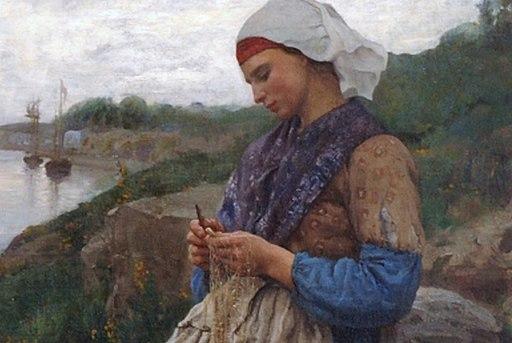 Une Fille de Pecheur (A Fisherman's Daughter) by Jules Breton 19th century