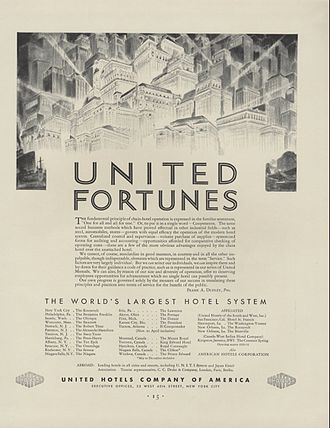 Frank A. Dudley - United Hotels Company of America Ad