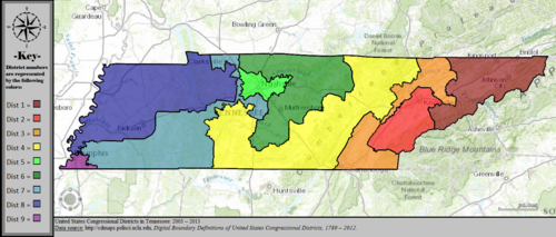 United States Congressional Districts in Tennessee, 2003 – 2013.tif