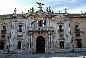 University of Seville - Facade of the building of the Rectorate of the University of Sevilla.