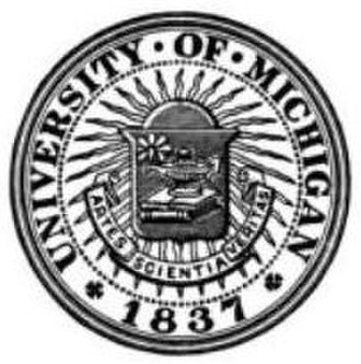 History of the University of Michigan - An earlier seal of the University, showing the founding date as 1837.