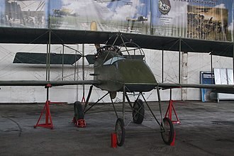 Voisin V - An unmarked Voisin V at the Central Air Force Museum in Monino, Russia