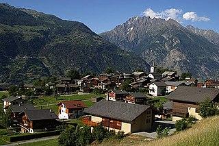 Former municipality of Switzerland in Valais, Switzerland