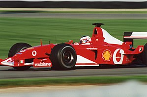 2002 United States Grand Prix - Rubens Barrichello won the race in one of the closest finishes in Formula One history