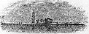 "An engraving of the USS Yazoo published in ""Harper's Weekly"""