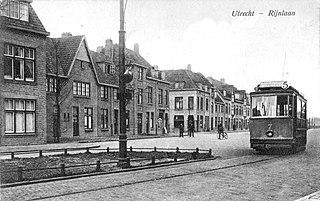 Foto van tram op de Rijnlaan