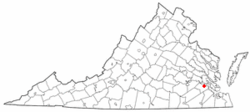 Location of Surry, Virginia