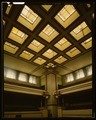 VIEW OF INTERIOR CEILING - Unity Temple, 875 Lake Street, Oak Park, Cook County, IL HABS ILL,16-OAKPA,3-8 (CT).tif