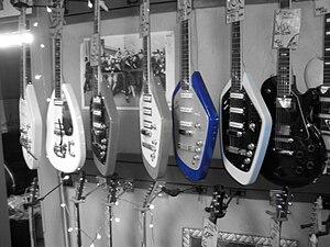 Vox (musical equipment) - Vox guitars  (Phantom XII is right white one)