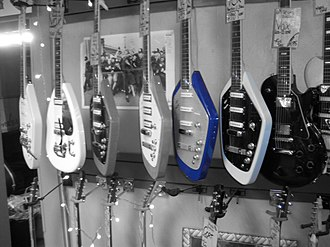 Vox (musical equipment) - Vox guitars  (Phantom XII is right white one)