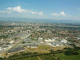 View of the city of Valence