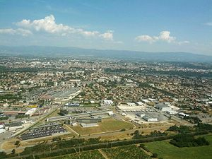 Valence, Drôme - View of the city of Valence