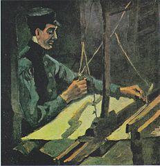 Weaver Facing Right (Half-Figure)