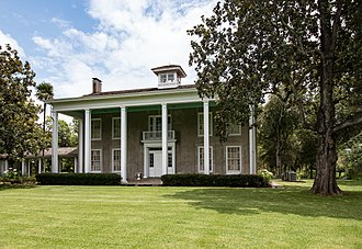 Varner–Hogg Plantation State Historic Site - Originally the rear of the house, Ima Hogg converted this to be the front entrance of Varner-Hogg in the 1920s