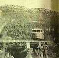 Vauxhall railbus on the two foot gauge Lake Margaret tram in South Western Tasmania, photo by JG Ward (02) (cropped).jpg