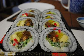 Eastern world - Image: Vegetarian Maki Sushi at Suzuran Japan Foods Trading