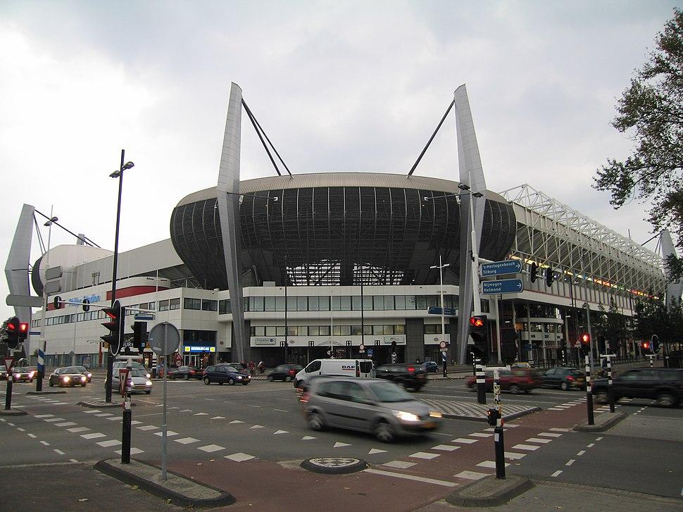 Ventilating corner seats of Philips Stadion