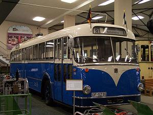 Büssing - Image: Verkehrsmuseum Büssing Ludewig Kiepe O Bus 01052009