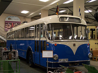 Büssing - 1963/1964 Büssing trolleybus preserved at the Frankfurt-am-Main Transport Museum.